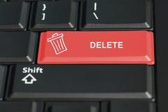 Löschungsknopf auf einer Tastatur Stockfotos