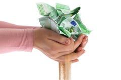 Lösen des Geldes Stockfoto