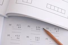 Lösen des mathematischen Problems Stockfoto