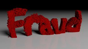 Lösen Sie Animation des Wortes BETRUG im Rot auf vektor abbildung