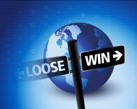 Lösen Sie u. gewinnen Sie Situation Stockfotografie