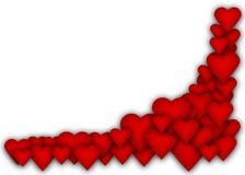 Lösen Sie viele Herzen mit leerem Platz Stockbilder