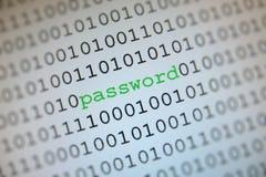 lösenord för binär kod Royaltyfri Bild