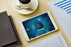 Lösenord Passcod för ID för KAPACITET för avskildhetstillträdesinloggning Arkivfoton