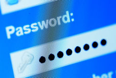 Lösenordask i internetwebbläsare Royaltyfria Bilder