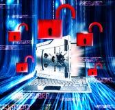 Lösenordet låser tolkningen 3d upp Royaltyfria Bilder
