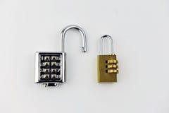 Lösenordhänglås arkivfoto