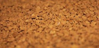 lösliga kaffepartiklar Arkivfoton
