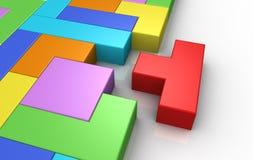 lösning för byggnadsbegreppsproblem vektor illustrationer