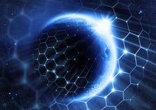lösning för globalt nätverk vektor illustrationer