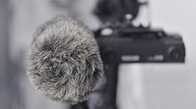 Lösning för ljudsignalinspelning för filmskapare Linjär PCM-registreringsapparat Royaltyfri Bild