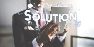 Lösning för strategi för företags ledning som brännmärker begrepp arkivfoton