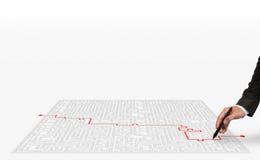 lösning för tolkning 3D för labyrinten Royaltyfria Bilder
