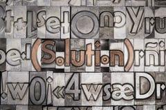Lösning med rörlig typprinting Royaltyfri Foto