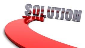 Lösning - röd pil Royaltyfri Foto