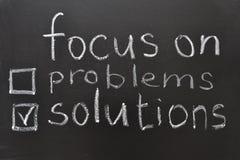 Lösningar Arkivbild