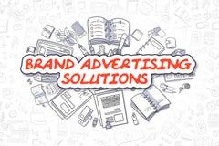Lösningar för märkesadvertizing - affärsidé Arkivbilder