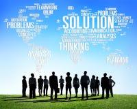 Lösningen löser begrepp för beslut för problemstrategivision stock illustrationer