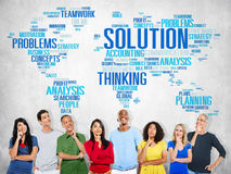 Lösningen löser begrepp för beslut för problemstrategivision Arkivbilder