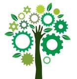 Lösningen utrustar trädet stock illustrationer
