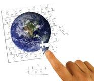 Lösningsbegrepp för global affär royaltyfri foto