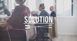 Lösningsidéplan som löser resultatkorsordbegrepp Fotografering för Bildbyråer