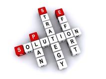 Lösningskorsordpussel Fotografering för Bildbyråer