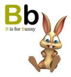 Löst djur för kanin med alphabte Fotografering för Bildbyråer