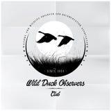 Löst Duck Observers emblem Royaltyfri Foto