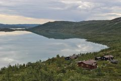 Löst landskap i Norge, Europa, i sommar Arkivbild