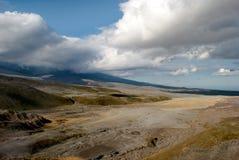 Löst landskap på Kamchatka royaltyfria foton