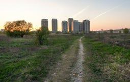 Löst och stads- Arkivfoto