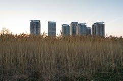Löst och stads- Arkivbild