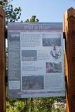 Löst på hjärta underteckna in Custer State Park arkivbild