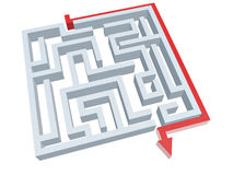 Lösung des Labyrinths Lizenzfreie Stockbilder