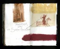 Lösung, die die verrückte Klugheits-handgemachte Collage Art Journal des Künstlers zerhackt vektor abbildung