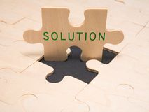 Lösung - Geschäftsmetapher Lizenzfreie Stockbilder