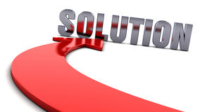 Lösung - roter Pfeil Lizenzfreies Stockfoto