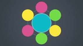 Lösung, Schlussfolgerungskreisdiagramm-Flussdiagramm, Kreis sieben lizenzfreie abbildung