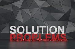 Lösung und Probleme Stockfoto