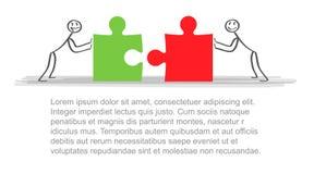 Lösungen Geschäftsteam und -partner, die Hintergrund zusammenarbeiten Konzeptgeschäftsgeschäfts-Vektorillustration Stockbild