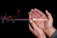 Lösungen sechs Stockfotografie
