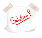 Lösungen, Vektor Lizenzfreies Stockfoto