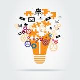 Lösungs-Konzeptvektordesign Lizenzfreies Stockbild