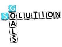 Lösungs-Kreuzworträtsel der Ziel-3D Stockfotografie