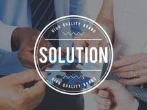 Lösungs-Lösen- von Problemenentscheidungs-Fortschritts-Konzept stockfotos
