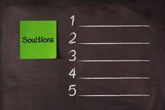 Lösungs-Liste Lizenzfreie Stockfotografie