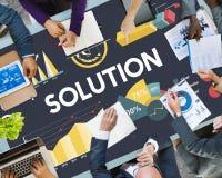 Lösungs-Prozentsatz-Geschäfts-Diagramm-Konzept Stockbilder