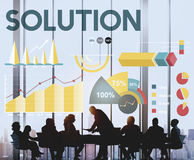 Lösungs-Prozentsatz-Geschäfts-Diagramm-Konzept Stockfotografie