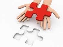 Lösungs-Puzzlespiel Stockfoto